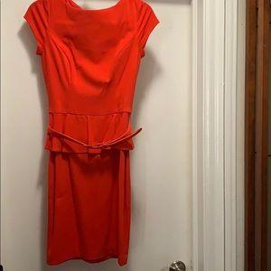 Cache peplum dress red size 8 NWT
